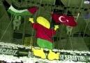 Konyaspor taraftarından tek kelimeyle muhteşem Kudüs koreografisi...