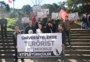 """KTÜ'LÜ TÜRKÇÜLER  """"Üniversitelerde Terörist İstemiyoruz!"""" basın açıklaması"""
