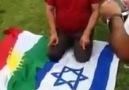 Kürdistan ve İsrail bayrağına secde eden HDP'li
