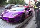 Lamborghini çeken polislerin zor anları )