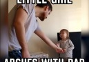 Little Girl Argues With Dad
