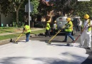 Los Angeles is painting its streets white to combat climate change