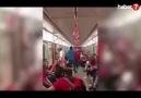 Metroda Tayyip Erdoğan tezahüratı