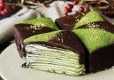 Mini Matcha Crepe Cakes