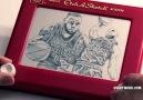 2015 NBA Finals Lebron James Etch A Sketch!