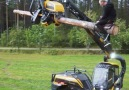 New way to use a forest machine! Tag a friend who you want to try this with