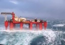 Oil Rig In Crazy Weather