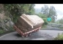 Over loaded lorry falls