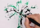 Painting with water and ink