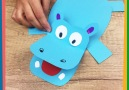 Paper Hippo with opening jaw ) Enjoy crafting!
