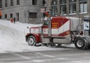 Peterbilt in the snow - Best Truck Videos