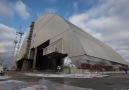 Pierwszy etap nasuwania Arki nad blok reaktora nr 4 Czarnobyls...