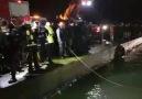 Polis aracı denizden çıkarıldı