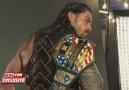 RAW EXCLUSIVE: Roman Reigns with the US Title