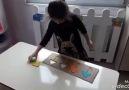 Renk eslestirme montessori etkinliğimiz