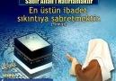 Sabır Allah'ı Hatırlamaktır