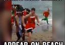 Santa And Jesus Marines Appear On Beach
