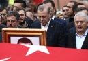 Şehit Kaymakam'ın cenaze töreninde...