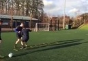 Speed ladder exercises with the ball
