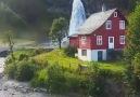 Steinsdalsfossen Waterfall in Norway