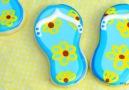 Summer Flip Flop Cookies