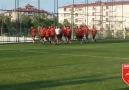 Takımımız Erzurum kampının ilk antrenmanında.