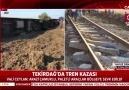 Tekirdağda tren kazasıSon gelişmeleri A Haber muhabiri Yavuz Demir aktardı