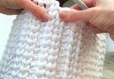 Terminacin de hilera de cesta crochet de trapillo totora