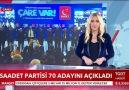 TGRT Haber Saadet Partisi 70 Belediye Başkan Adayının İsmini Açıkladı!