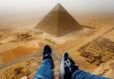 The views from the top of a pyramid