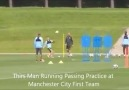 Third man running training with the Manchester City FIrst Team