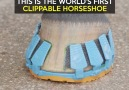 This is the world's first clippable horseshoe