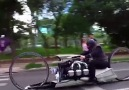 This motorcycle is like something from the future