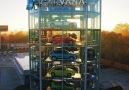 This vending machine dispenses cars.