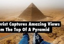 Tourist Captures Amazing Views From The Top Of A Pyramid