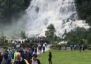 Tvindefossen Waterfall In Norway &
