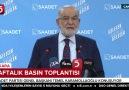 TV5 Televizyonu - Saadet Partisi Basın Toplantısı - Temel Karamollaoğlu