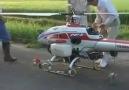 Uzaktan Kontrol Helikopter İle İlaçlama - Japonya