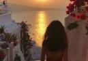 Watch Beautiful Sunset In Santorini Island Greece