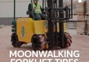 Watch this forklift move in seemingly impossible ways!
