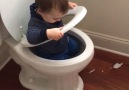 Who needs a playground when you have a bathroom