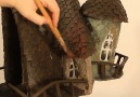 WOW!! She made this fairytale house lamp with a COKE bottle!Credit Creative Mom