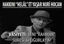 Yaşar Nuri Öztürk Vefat Etti