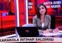 Yazıklar olsun!Cnn Türk muhabiri Bir kadın terörist şehit oldu.
