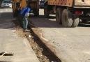 Yeni mahalle asfalt yama calışması devam etmektedir