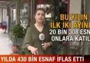 4 YILDA 430 BİN ESNAF İFLAS ETTİ!