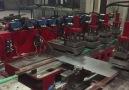 Zekai Fidan - Davlumbaz bacası üretim hattı. Seri imalat...
