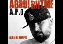 A.P.O - Abdulrhyme (Snippet)