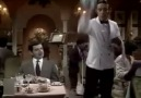 Mr Bean at restaurant