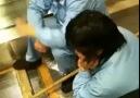 Oturdukları yerden temizlik yapıyorlar :)